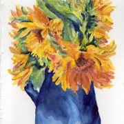 cs.59 Sunflower vase